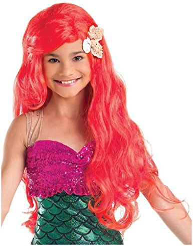 little mermaid red wig