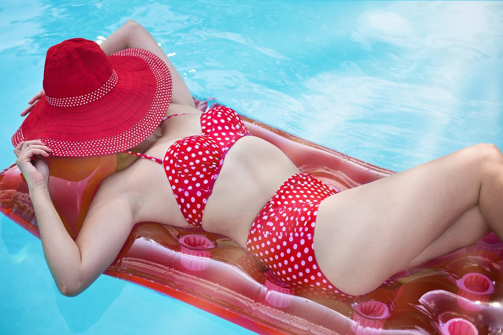 Red Polka Dot Bathing Suits