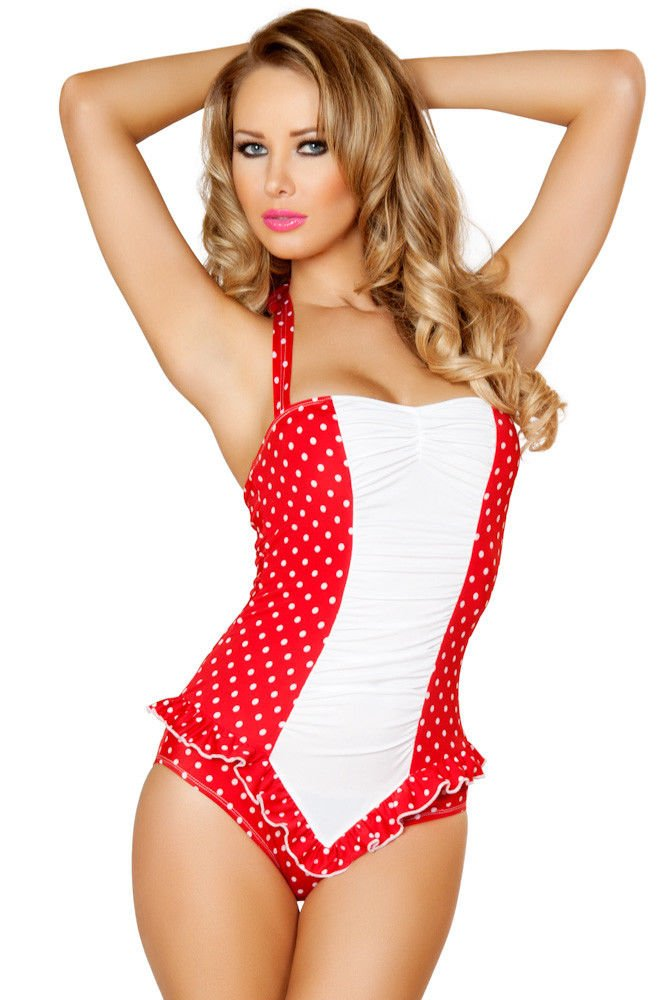 Red-white-polka-dot-pinup-one-piece-bathing-suit