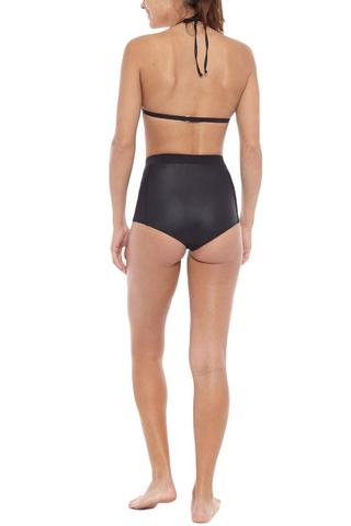 ATHENA HIGH WAISTED BIKINI BOTTOM - ONYX