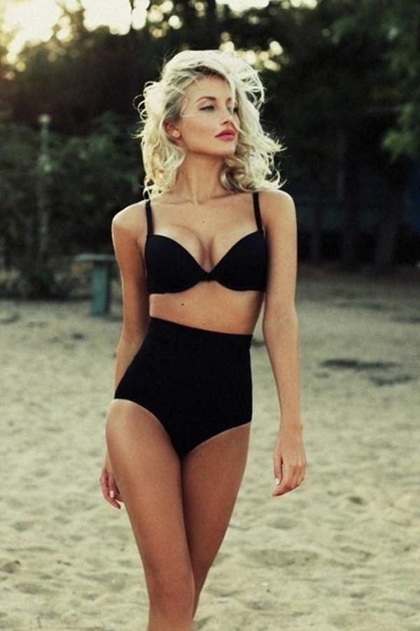 836a071a03 Black Bikini Bottoms High Waisted That Make You Look Super Thin And ...