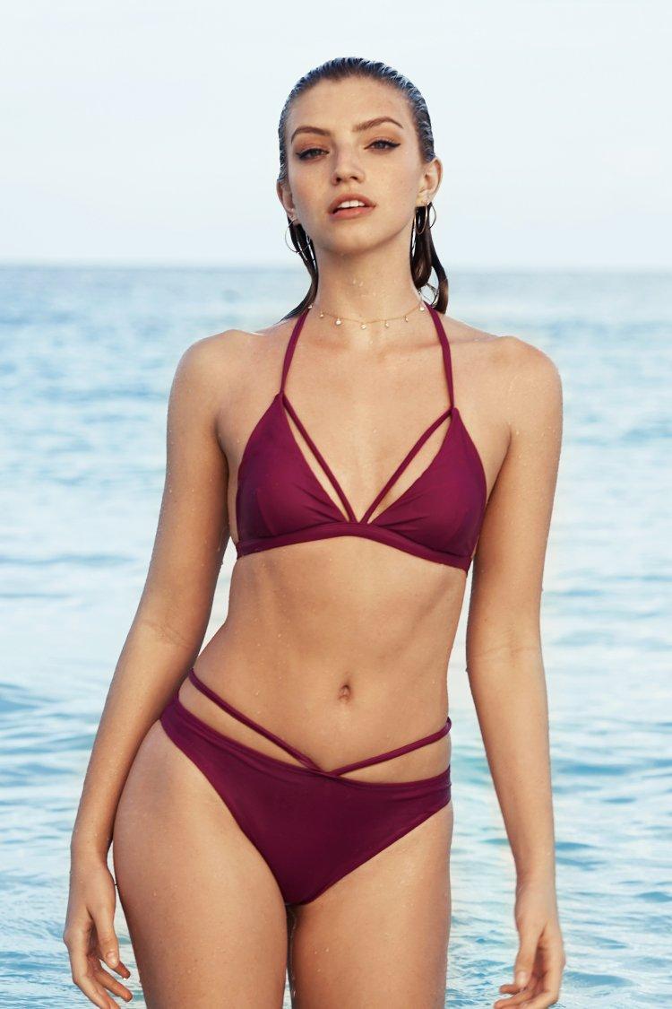 Cupshe War At Beach Halter Bikini Set