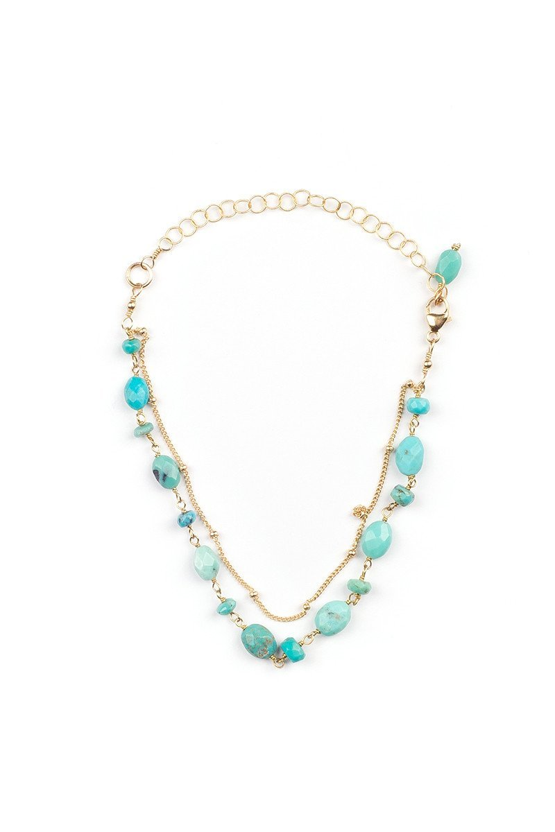 Turquoise + Satellite Bracelet