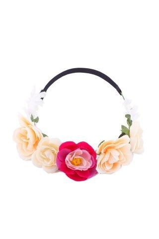 Pink & Peach Floral Crown