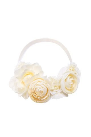 Cream Rose Floral Crown