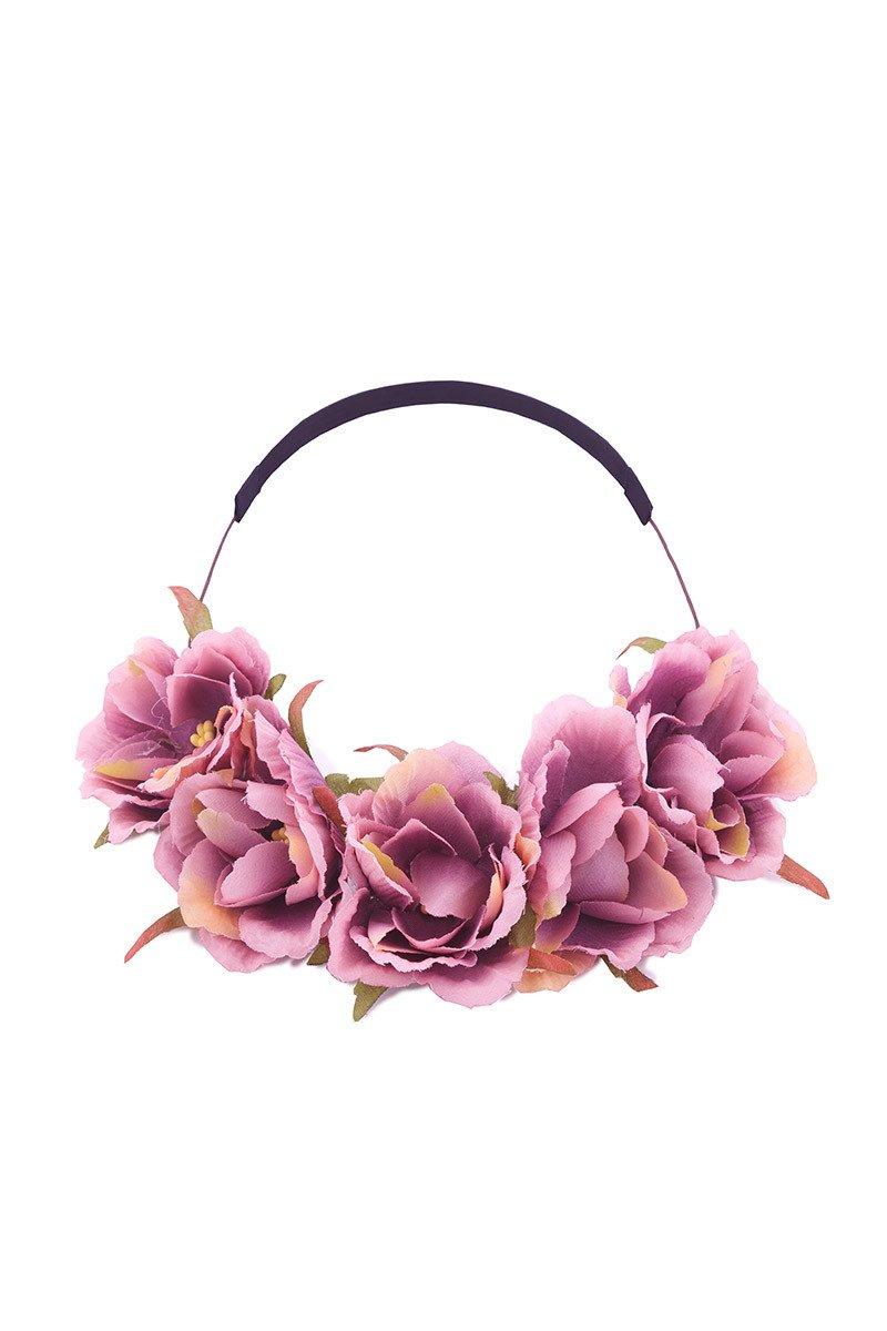 Purple Floral Crown