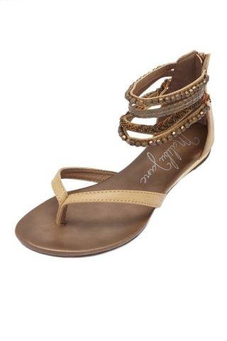 Laguna Embellished Ankle Strap Sandals