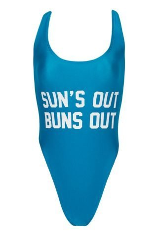 Sun's Out Buns Out One Piece