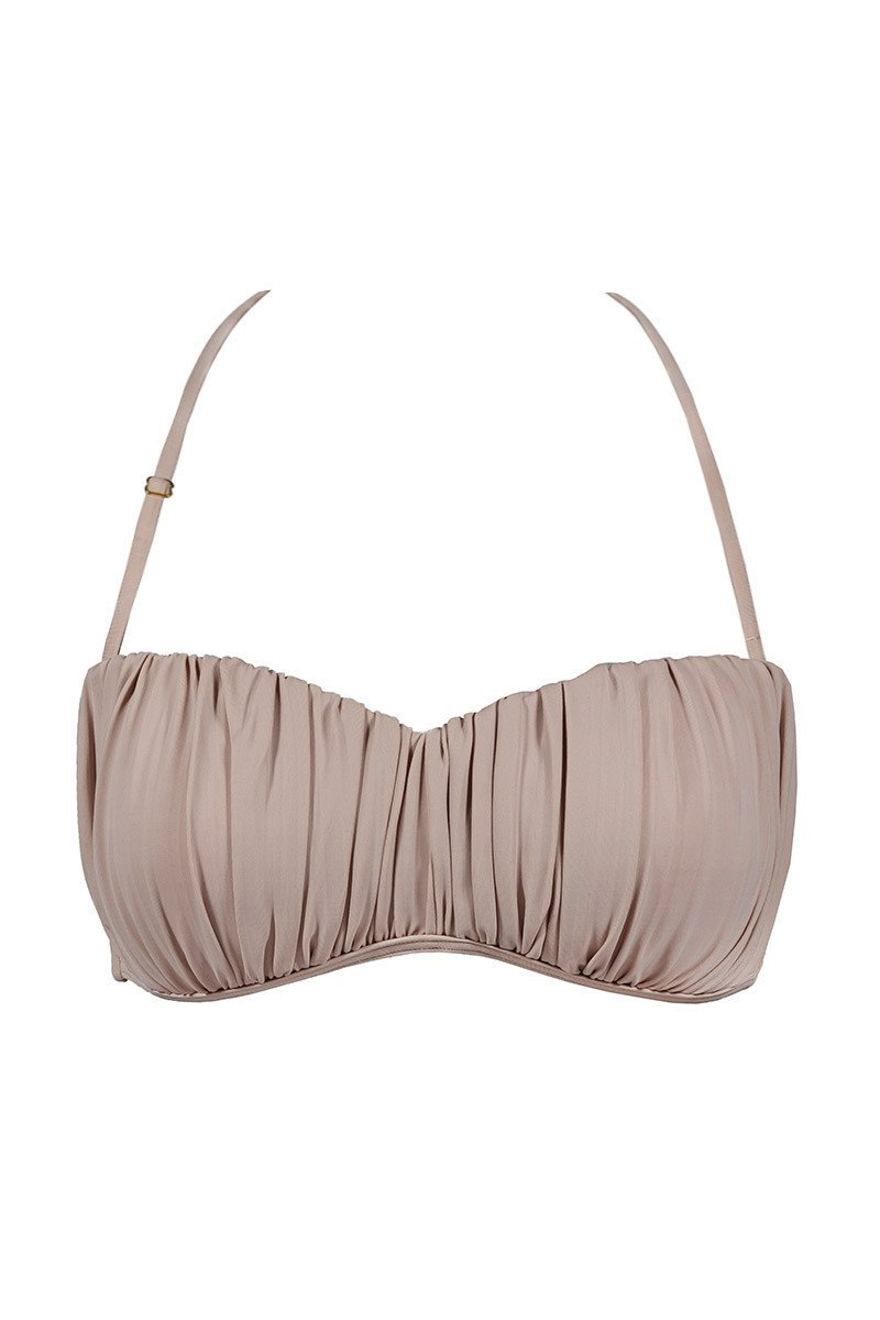 Pleated Bustier Top
