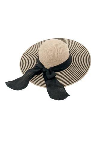 Striped Black Sun Hat