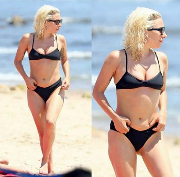 lady gaga size 10 celebrities in bikinis
